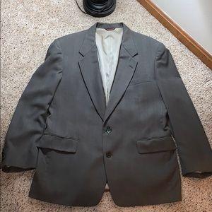 Men's Custom Tailored Brown Pinstripe Suit